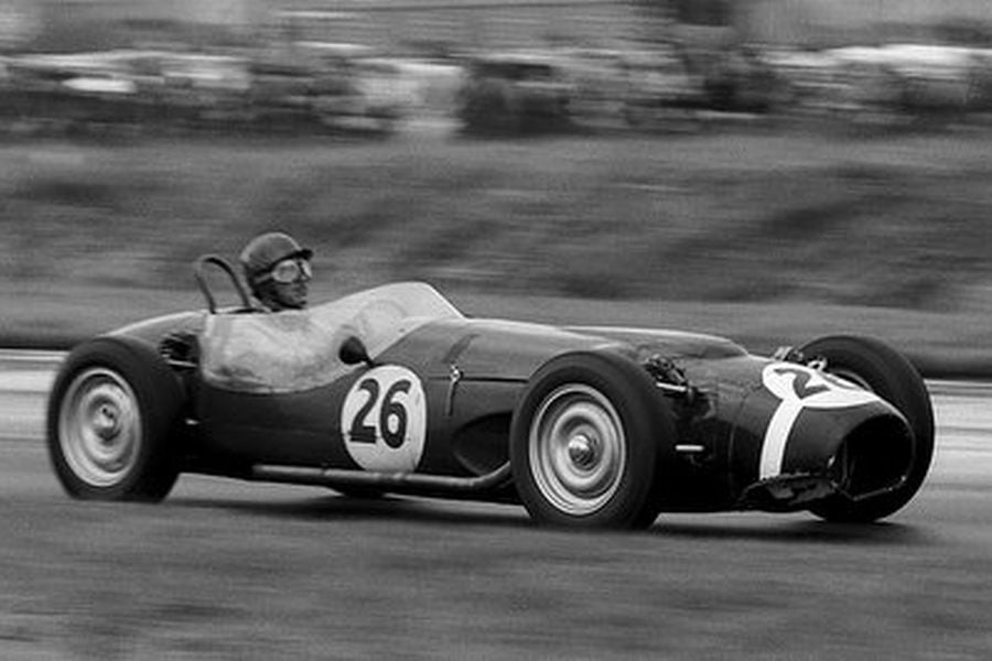 Jack Fairman in a Ferguson P99 4WD F1 car at 1961 British Grand Prix