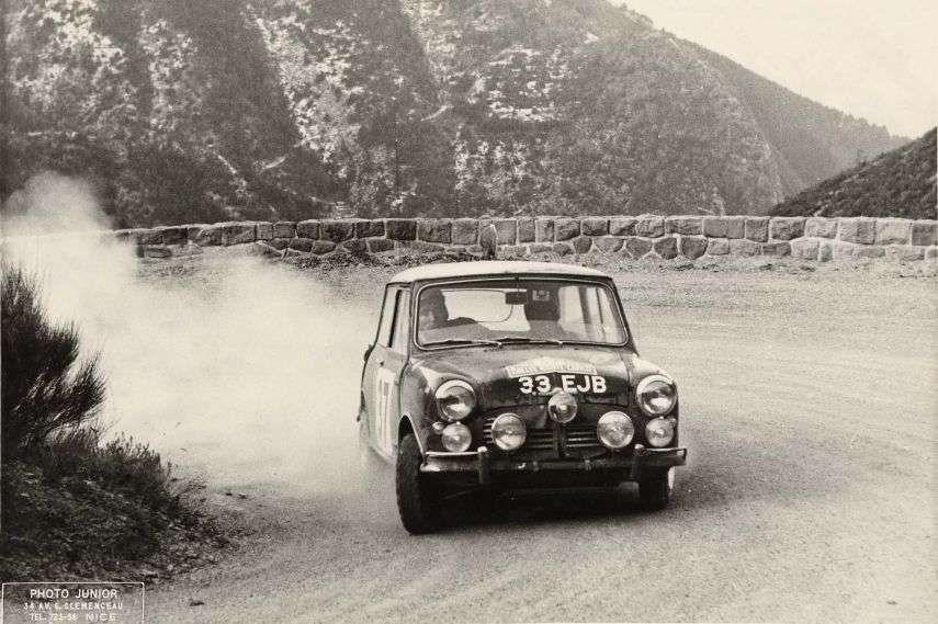 1964 Rallye Monte-Carlo, winner Paddy Hopkirk, Mini Cooper S