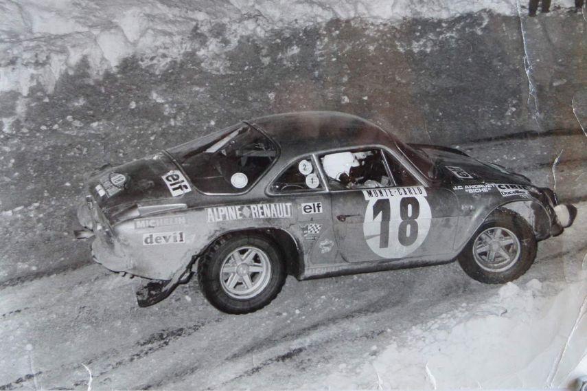 1973 Rallye Monte Carlo, Jean-Claude Andruet, Alpine Renault A110