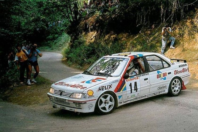 Andrea Aghini was driving Peugeot 405 Mi16 from 1989 to 1991