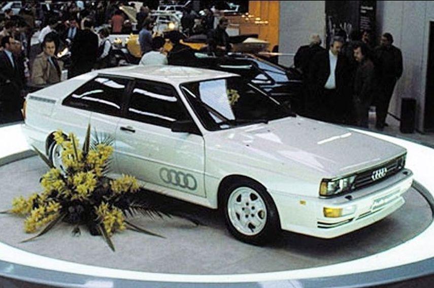 Audi Quattro, 1980 Geneva Motor Show, new audi rear based wheel drive vehicle