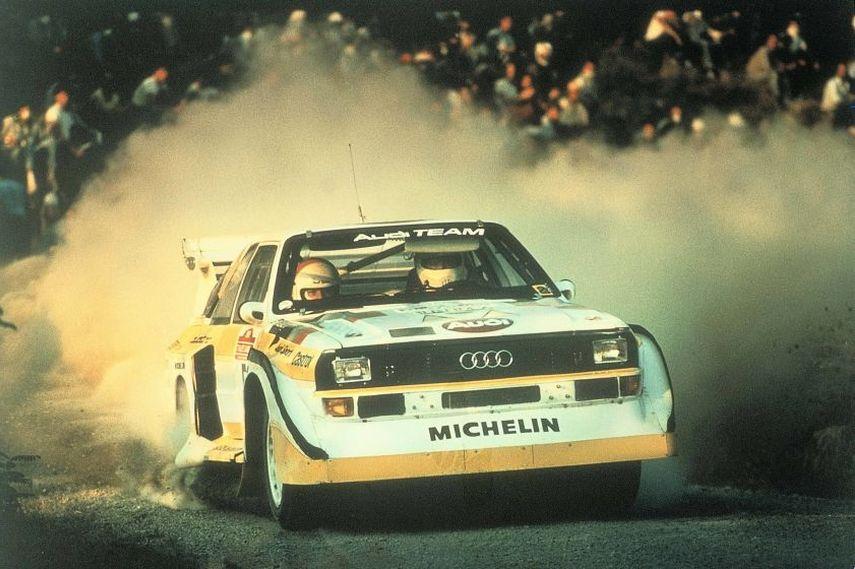 Audi Sport quattro S1, year 1985 Rally San Remo, group B rear wheel drive models