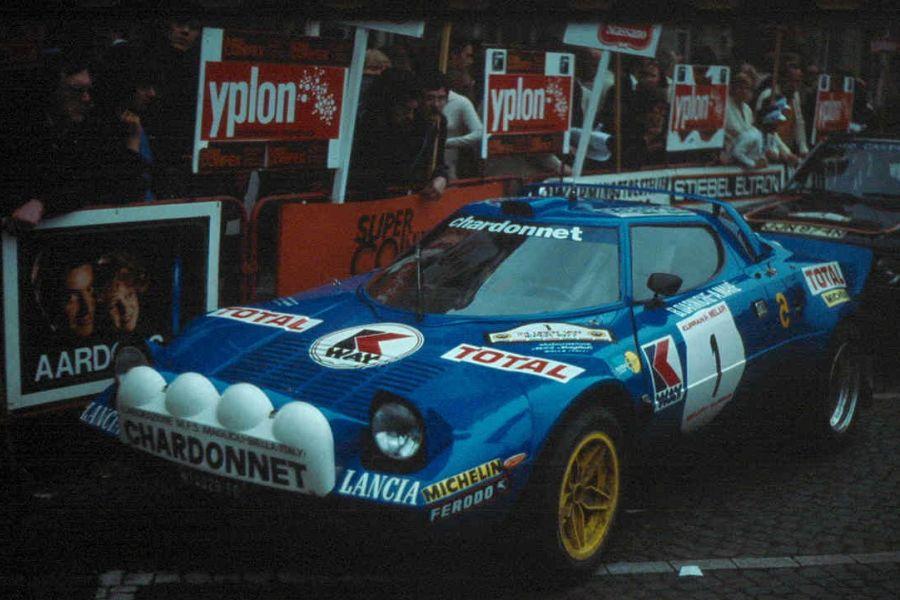 Bernard Darniche's Lancia Stratos HF in 1977