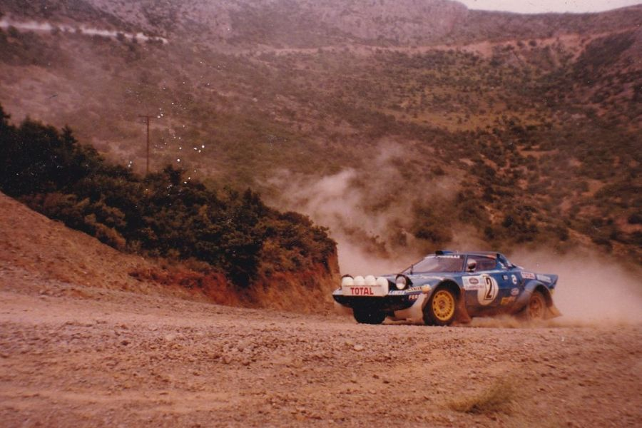 Bernard Darniche in the #2 Lancia Stratos HF at 1980 Acropolis Rally