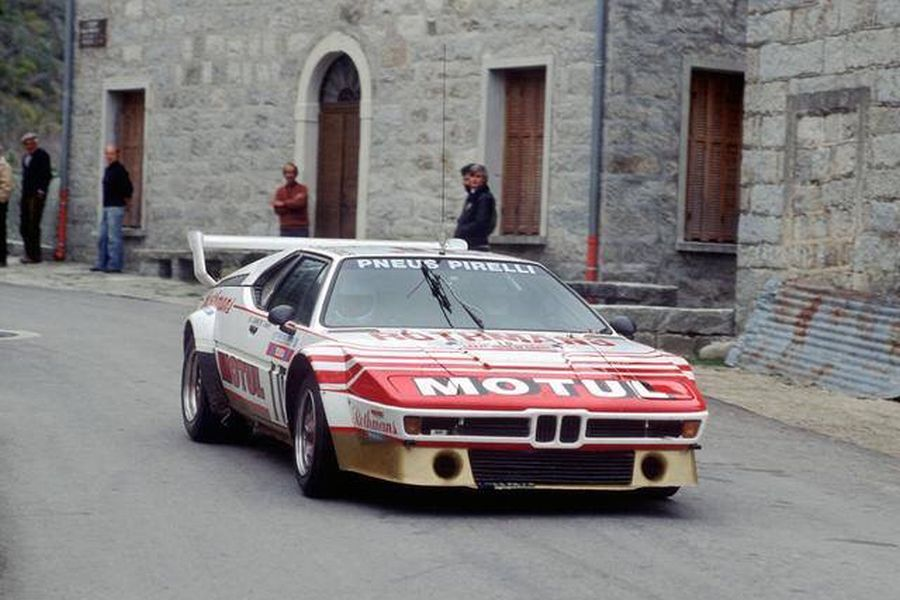 Bernard Darniche in the #10 BMW M1 at 1982 Tour de Corse