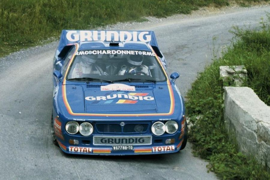 Bernard Darniche was driving Lancia 037 Rally in 1986