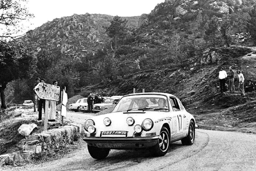 Claude Ballot-Lena at 1970 Tour de Corse in a Porsche