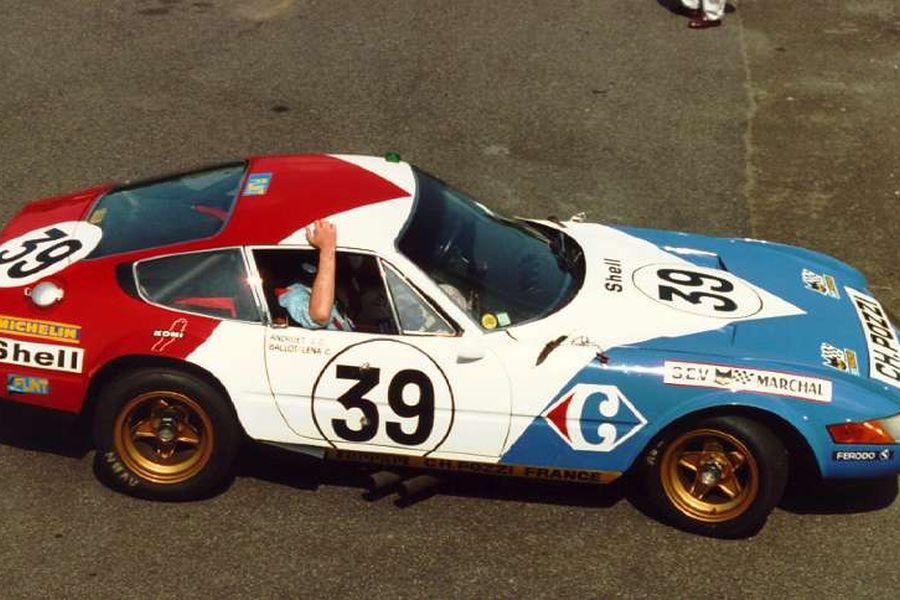 In 1972, Claude Ballot-Lena and Jean-Claude Andruet won GT class at Le Mans in a Ferrari 365 GTB/4