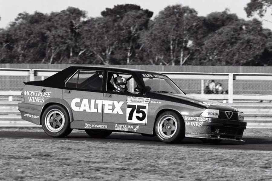 Colin Bond raced with Alfa Romeo from 1984 to 1987
