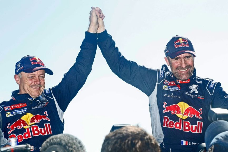 Dakar 2016 winners Stephane Peterhansel and Jean-Paul Cottret
