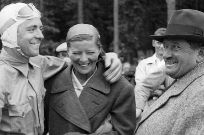 Rosemeyer with his wife and Ferdinand Porsche