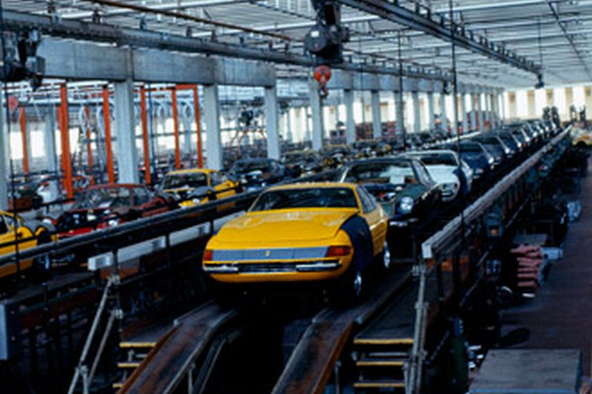 Ferrari 365 GTB/4 factory production line