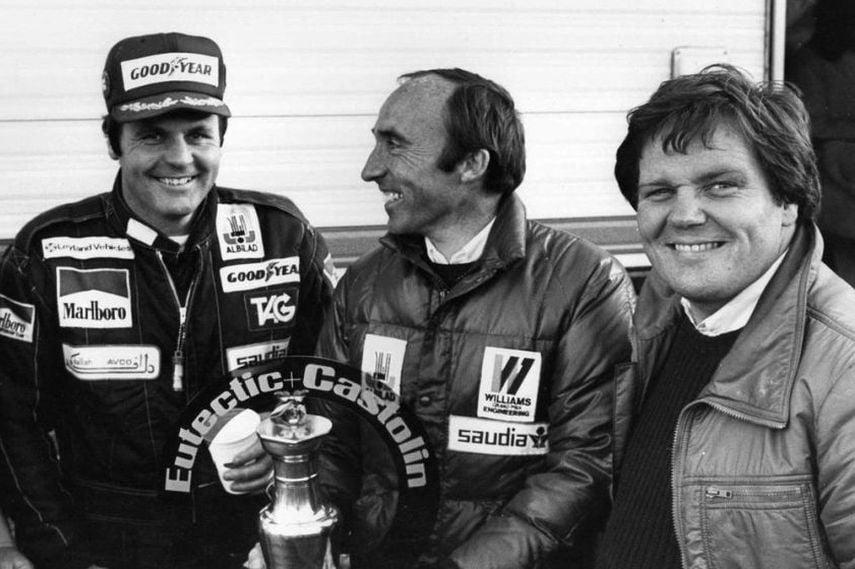 Alan Jones, Frank Williams, Patrick Head, 1980