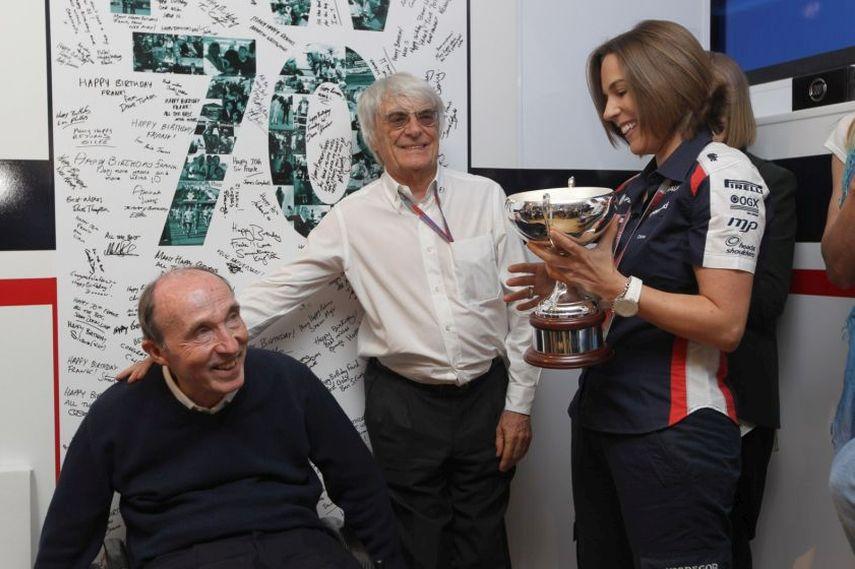 Sir Frank Williams, Bernie Ecclestone, Claire Williams, 70th birthday