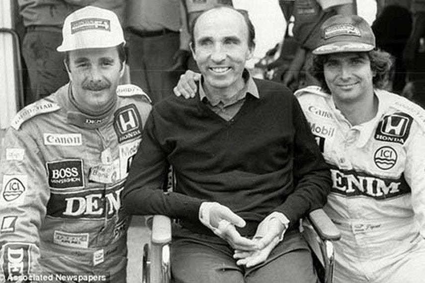 Nigel Mansell, Frank Williams, Nelson Piquet