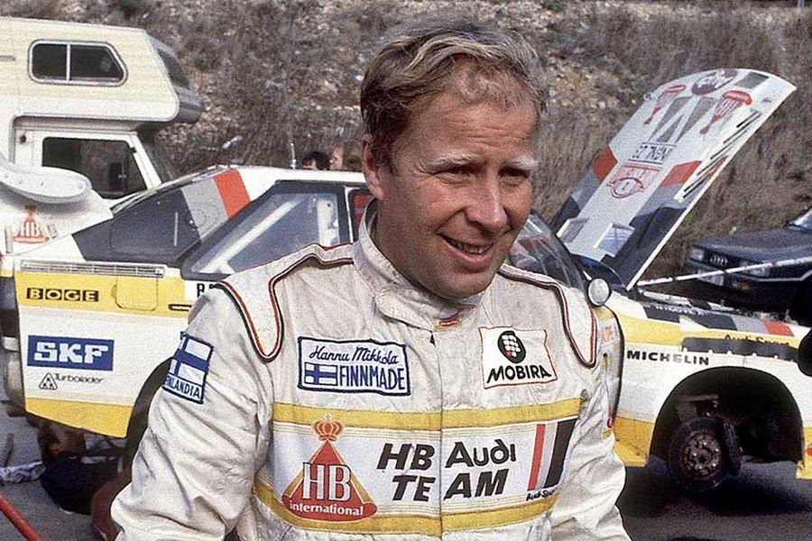 1983 World Rally Champion Hannu Mikkola
