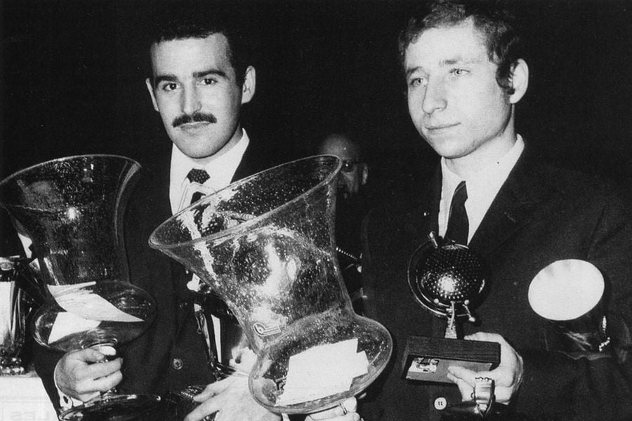 Jean-Claude Andruet and Jean Todt in 1968