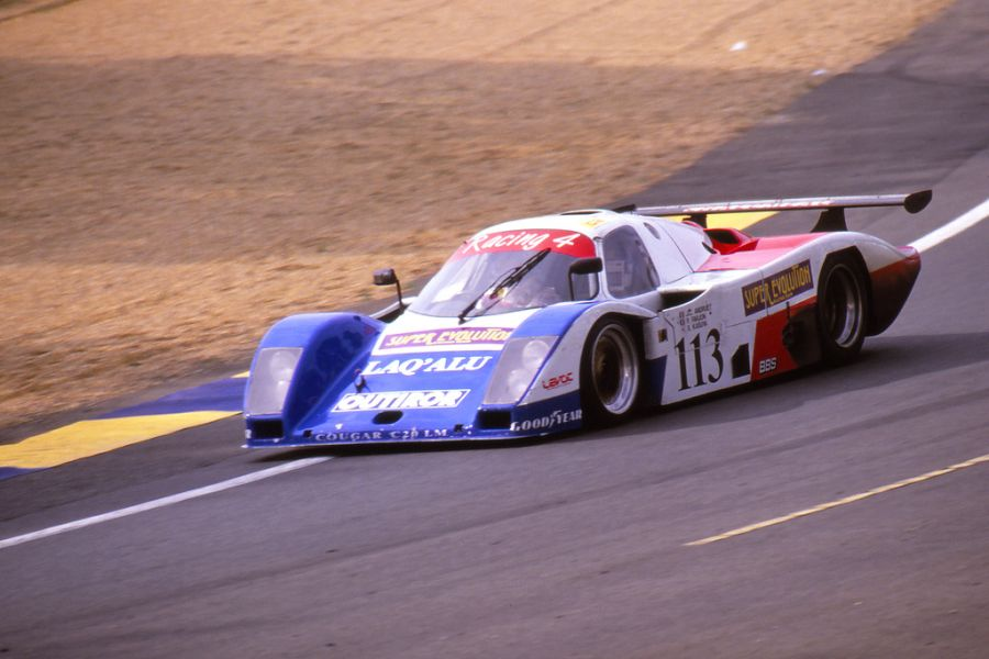 C2 class-winning Cougar-Porsche at 1989 Le Mans 24 Hours