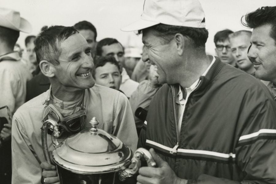 Ken Miles (left) and Carroll Shelby