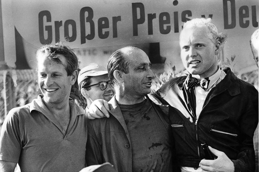 Peter Collins, Juan Manuel Fangio, Mike Hawthorn, 1957 German Grand Prix