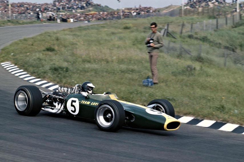 Jim Clark formula Lotus 49, first victory