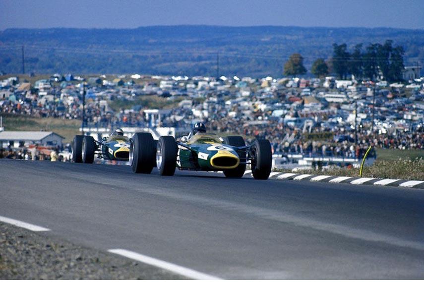 1976 Watkins Glen Lotus 49 Graham Hill Jim Clark cars racing