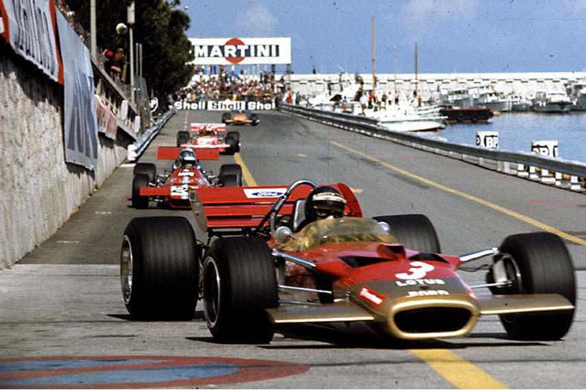 1970 Jochen Rindt Monaco Lotus 49 racing cars, Monaco Grand Prix