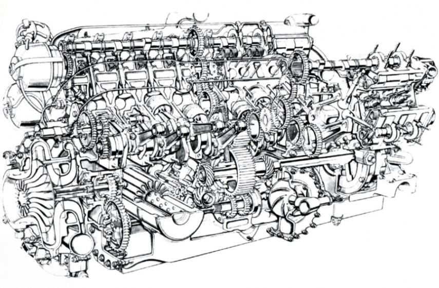 BRM V16 cylinder engine