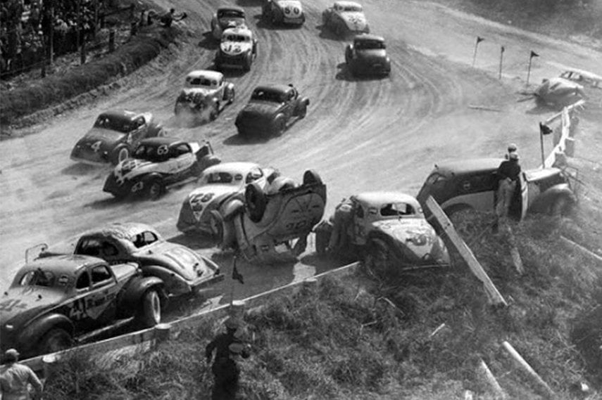 Crash at Daytona Beach NASCAR race, NASCAR history