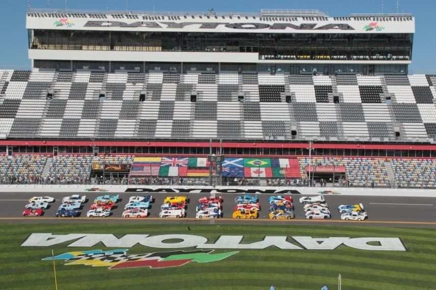 Daytona International Speedway, Rolex 24 former winners pictured in 2013
