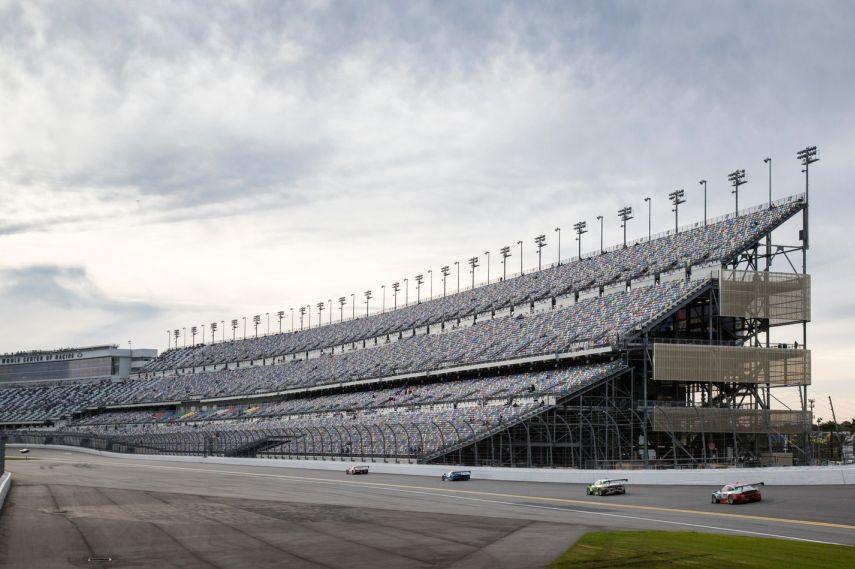 Daytona International Speedway, raceway, center grandstands