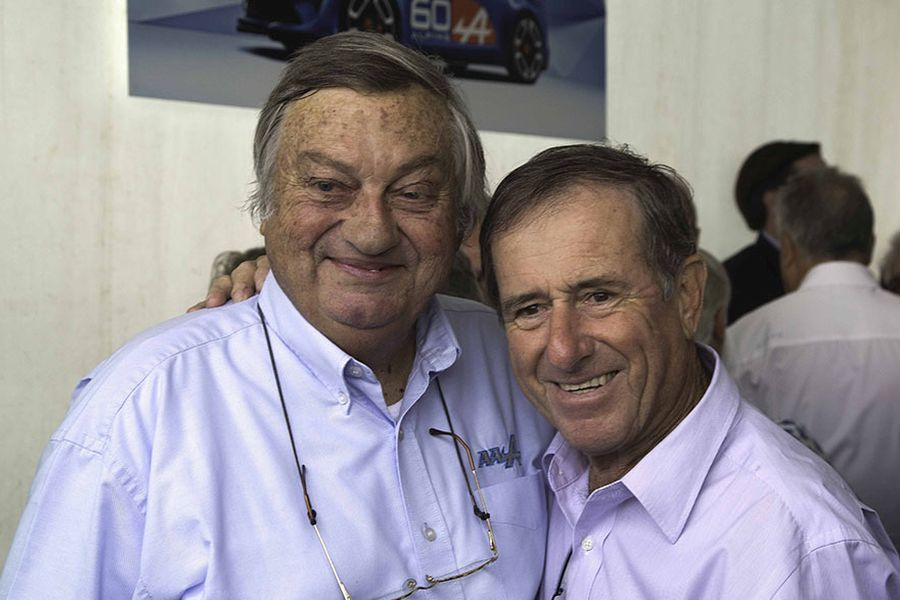 Two French rally legends: Jean-Luc Therier and Jean Ragnotti