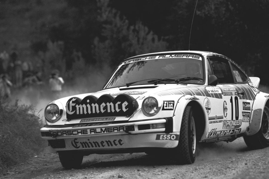 Jean-Luc Therier's Porsche 911 SC at 1981 Rallye Sanremo