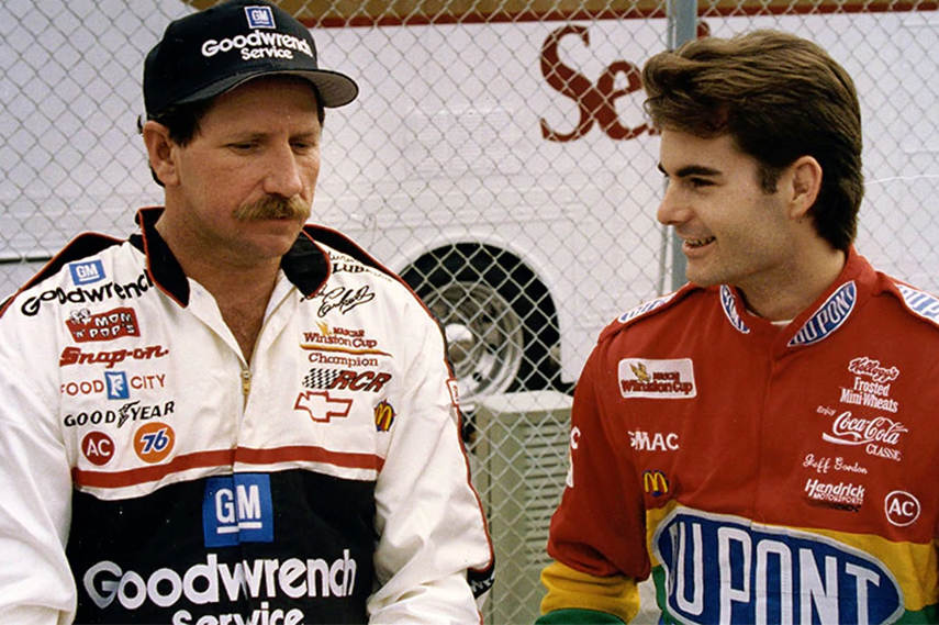 Jeff Gordon and Dale Earnhardt, NASCAR legends