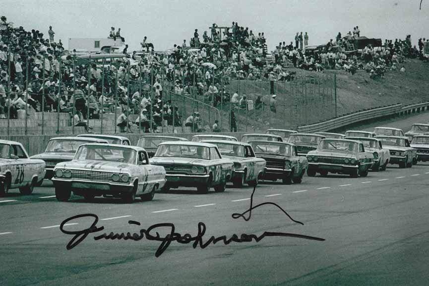 NASCAR Race in 1963 Junior Johnson