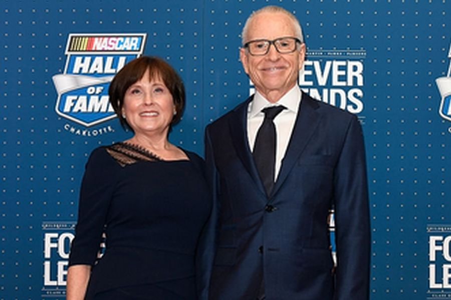 Mark Martin and his wife Arlene in 2017