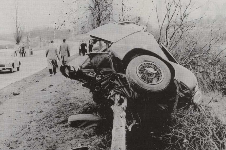 Mike Hawthorn, crash, death, Jaguar, video
