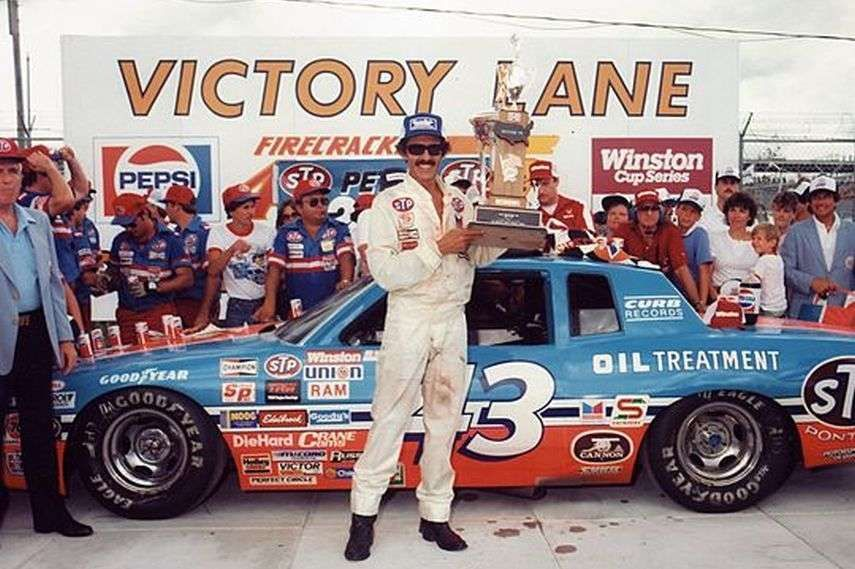Richard Petty with his trophy, 1984 Firecracker 400 winner