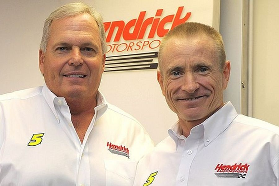 Mark Martin (right) with Rick Hendrick