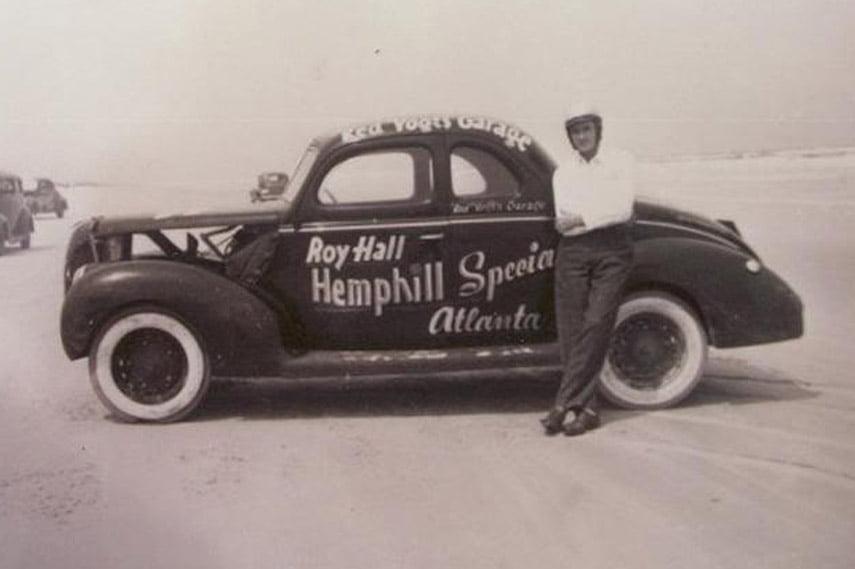Roy Hall NASCAR stock car moonshiner Ford