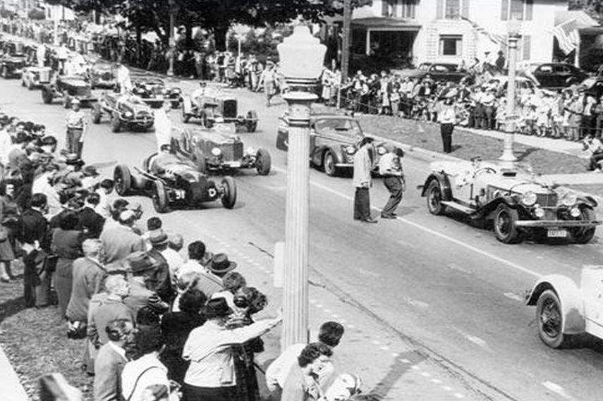 first ever race at The Glen in 1948 starting grid