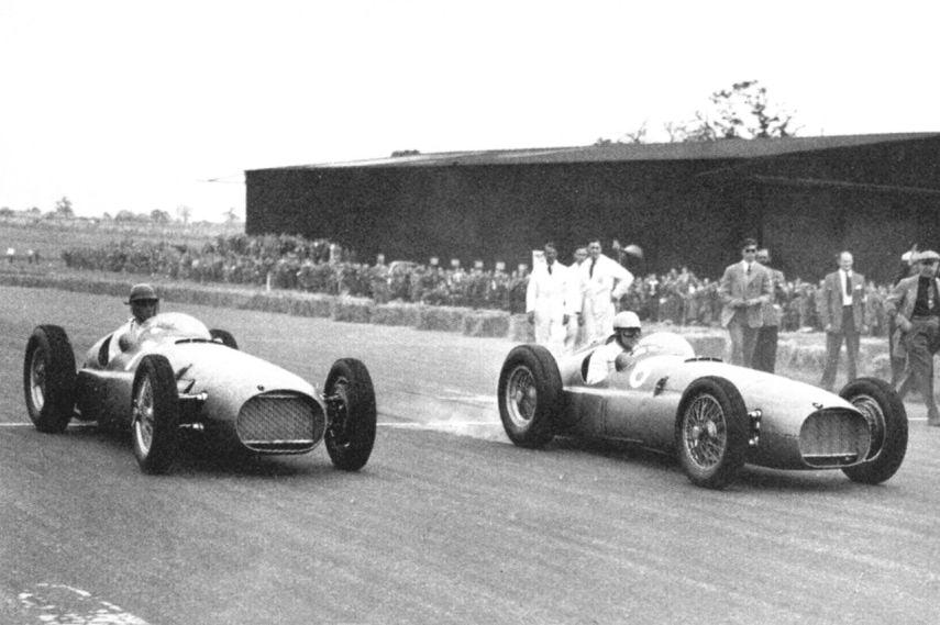 BRM V16, 1951 British Grand Prix, Reg Parnell, Peter Walker