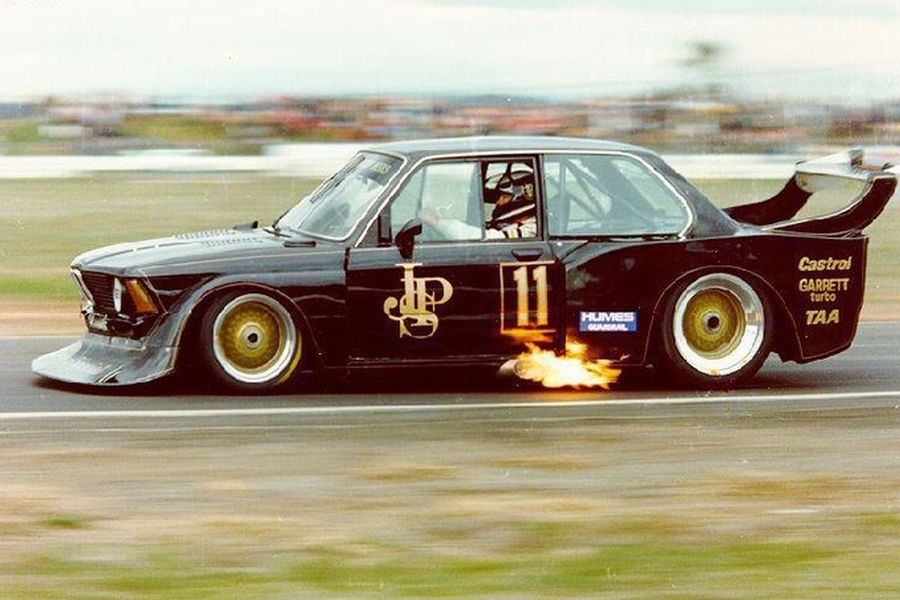 Allan Grice's flame-spitting BMW, JPS Team BMW