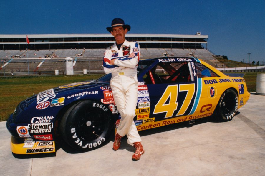 Allan Grice and his 1989 NASCAR car