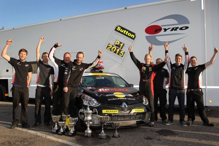 Ashley Sutton was the Renault UK Clio Cup champion in 2015
