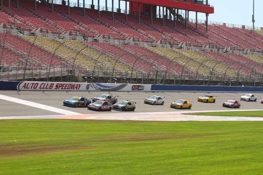 Auto Club Speedway, oval and infield road course GT racing