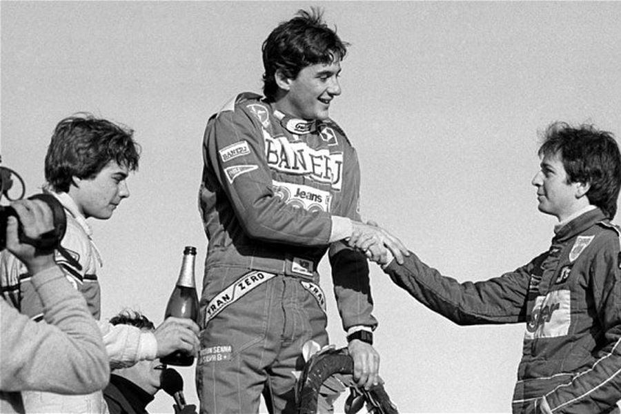 1983 British F3: Davy Jones, Ayrton Senna. Martin Brundle