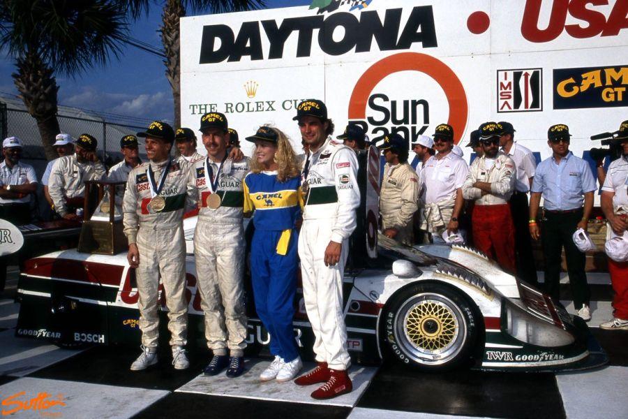 1990 Daytona 24h winners Davy Jones, Andy Wallace and Jan Lammers