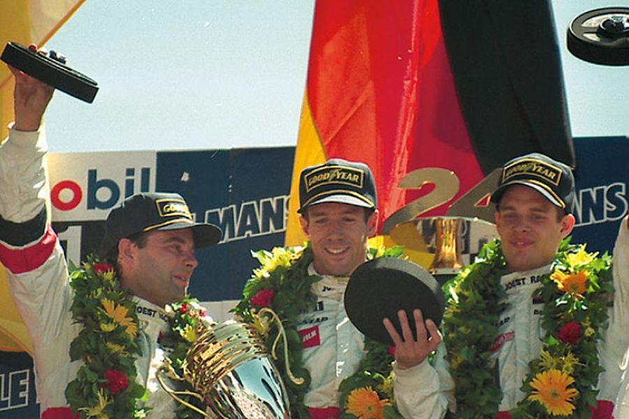 Davy Jones, Manuel Reuter, Alexander Wurz - 1996 Le Mans 24 Hours winners
