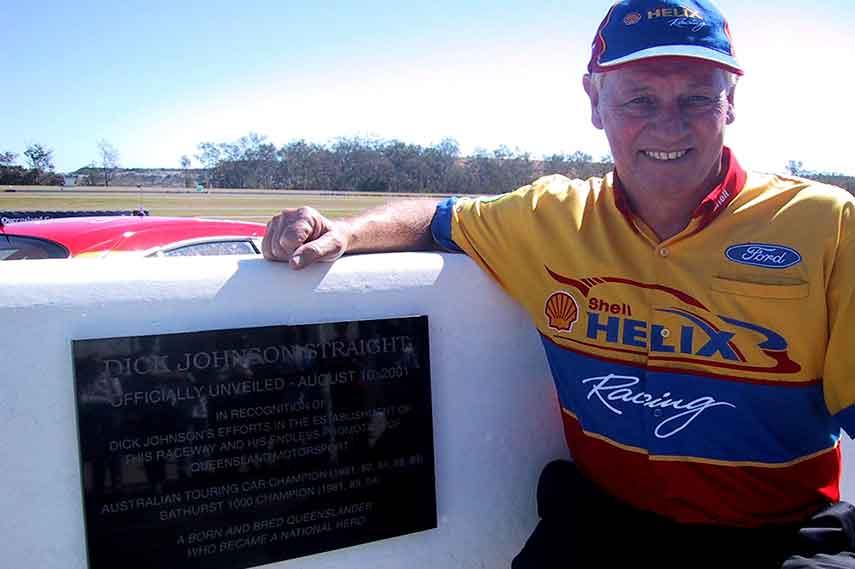 Dick Johnson, plaque, Queensland Raceway